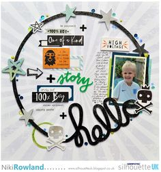 Hello | Cutting and Altering Chipboard by Niki Rowland