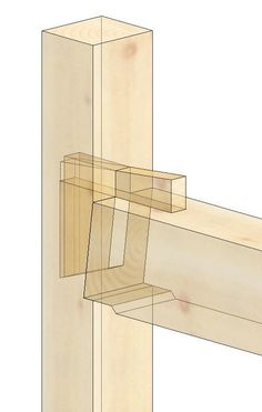 Wedged Half Dovetail Tie Beam Tenon to Post Timber Frame Joint