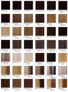for writing / Hair color & name chart