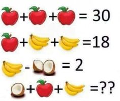 Seems easy? 'Fruit algebra' answer is less simple than you think.