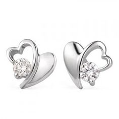 Beautiful and Affordable Diamond Earrings on 10k White Gold