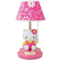 Hello Kitty Hello Kitty table lamp - I have it in my room at my moms house! Along with all my other Hello Kitty stuff! Sanrio Hello Kitty, Hello Kitty Lamp, Hello Kitty Bedroom, Hello Kitty House, Cat Bedroom, Hello Kitty Stuff, Little Ones, Little Girls, Hello Kitty Collection