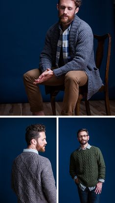 My favorite thing about the Brooklyn Tweed Fall '16 collection that came out last week are these three men's sweaters, which I assess in terms of their Bob-ability: TOP: Tamarack by Jared Flo…