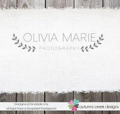 Custom Premade Photography Logo Vine Leaf Logo by autumnscreek, $35.00 Brand Identity Design, Branding Design, Logo Photographe, Rain Logo, Logo Branding, Corporate Branding, Initial Logo, Watermark Design, Watermark Ideas