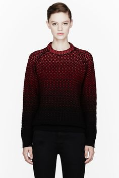 PROENZA SCHOULER Red Ombre knit sweater