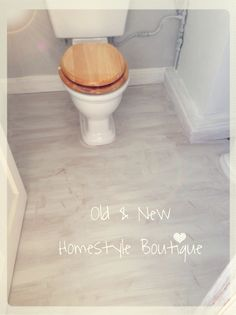 First Coat Of Chalk Paint Down On Laminate Floor In My Downstairs Loo  Makeover.