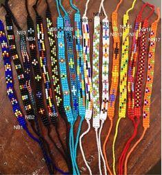 Friendship Bracelets-Seed Beads Bracelet-Hand beaded-Best friend gift-Pattern Bracelet-Thin Bracelet-Tie on Bracelet-Bohemian-Gift-Tribal Friendship Bracelets With Beads, Tribal Bracelets, Bead Loom Bracelets, Friendship Bracelet Patterns, Woven Bracelets, Bead Loom Patterns, Beading Patterns, Best Friend Gifts, Gifts For Friends