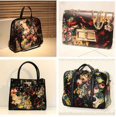 Lady Vintage Floral Oil painting envelope bag handbag single shoulder satchel