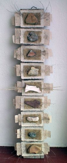 Image result for contemporary mixed media art with natural materials