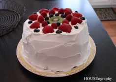 Easy Angel Food Cake  - Today's Last Minute Memorial Day BBQ Dessert