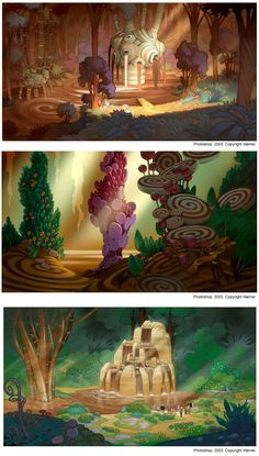 Luc Desmarchelier Concept art, backgrounds