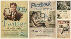 Twitter, Facebook, Skype, YouTube