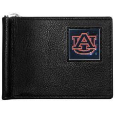 """Checkout our #LicensedGear products FREE SHIPPING + 10% OFF Coupon Code """"Official"""" Auburn Tigers Leather Bill Clip Wallet - Officially licensed College product Genuine fine grain leather wallet Metal, flip out bill clip Slim style wallet  with lots of storage Metal Auburn Tigers emblem with enameled team colors - Price: $22.00. Buy now at https://officiallylicensedgear.com/auburn-tigers-leather-bill-clip-wallet-cbcw42"""