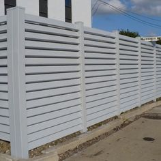 Country Estate Fence of the South, Inc. offers Vinyl Louvered Fence in all 4 colors & wood grain. Call today for a free estimate. #louveredfence #vinylfence #woodgrain #coloredvinyl #pvcfence #hurricaneshutter #fence #DIY #backyard