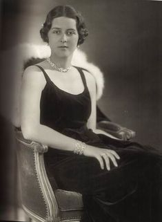 Princess Cecilie of Greece and Denmark. The daughter of Prince Andrew of Greece and Princess Alice of Battenberg, and the sister of Prince Philip of Edinburgh. In 1931 she married Georg Donatus, Hereditary Grand Duke of Hesse and by Rhine. Alice Von Battenberg, Adele, Prins Philip, Princesa Victoria, Greek Royalty, Greek Royal Family, Grand Duchess Olga, Young Prince, Isabel Ii