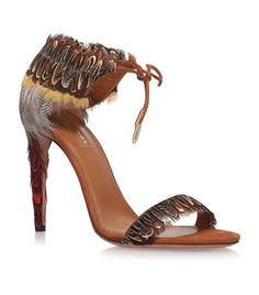Aquazzura Rio 105 Feather Sandals available to buy at Harrods. Shop women's…