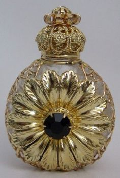 Gold Plated Filigree Perfume Bottle