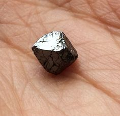 Black Rough Diamond Crystal Black Diamond Crystal by gemsforjewels