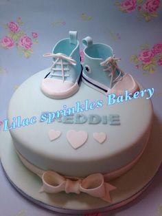 Baby Boy Converse Boots Cake