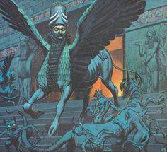 Lamassu by Angus McBride (Babylon)