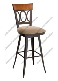 Amisco Cindy Swivel Stool with Wood Backrest 41417