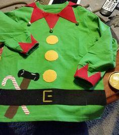 Diy elf shirt... So easy and so cute