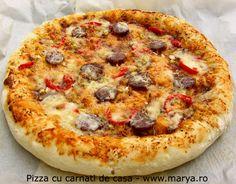 Marya.ro Pizza cu carnati de casa   Culinar, Pizza Romanian Food, Vegetable Pizza, Vegetables, Vegetable Recipes, Veggie Food, Vegetarian Pizza, Veggies