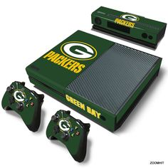 Xbox One Console Skin Decal Sticker Green Bay Packers + 2 Controller Skins Set…