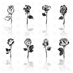Resultado de imagem para stylized rose design