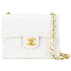 Chanel Vintage Quilted Crossbody Bag ($5,510) ❤ liked on Polyvore featuring bags, handbags, shoulder bags, purses, chanel, white, crossbody purse, vintage purses, chanel handbags and crossbody handbag