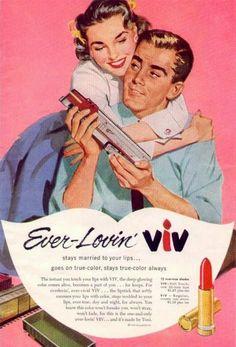 Toni VIV Lipstick Ad, 1956