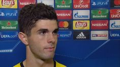Christian Pulisic described Andre Schurrle's equaliser in Borussia Dortmund's 2-2 Champions League draw with Real Madrid as amazing.