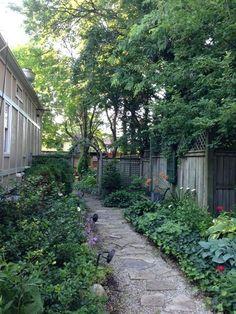 Image result for narrow shade garden