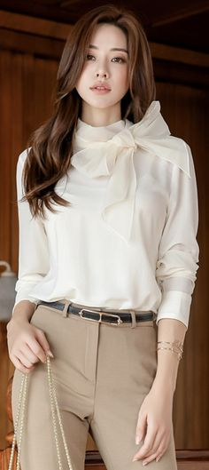 15fa922d53804 69 Best tie neck blouse images