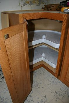 Organizational cabinetry add ons are life savers. Kitchen Cabinet Kings at www.kitchencabinetkings.com - Buy Kitchen Cabinets Online and Save Big with Wholesale Pricing! #kitchen #cabinets #home #cabinetry