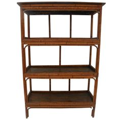 Antique Chinese Bamboo Bookshelf   From a unique collection of antique and modern bookcases at http://www.1stdibs.com/furniture/storage-case-pieces/bookcases/