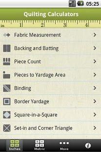 Quilting Calculators- screenshot thumbnail