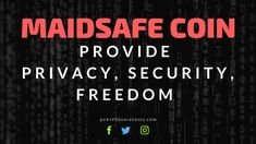 MaidSafeCoin (MAID) is a product of MaidSafe, which aims to change the way people store their data.