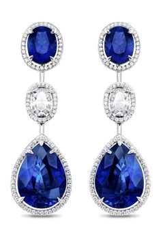 Asprey sapphire and diamond earrings. Not too shabby, eh?