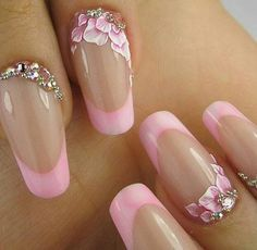 Friendly Nail Art Community with Nail Art Picture and Video Tutorials. Make your nails look awesome and share your nail art designs! Fancy Nails, Pink Nails, Cute Nails, Pretty Nails, Acrylic Nail Art, 3d Nail Art, Cool Nail Art, Fingernail Designs, Nail Art Designs