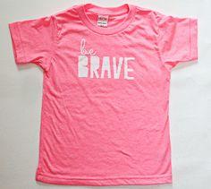 Be Brave Modern Pink Modern Kids Tee from threelittlenumbers