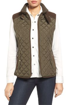 Nordstrom Anniversary Sale Coats - Gallery Quilted Vest with Faux Suede Trim (Regular & Petite) Winter Coats Women, Coats For Women, Coat Sale, Sleeveless Jacket, Nordstrom Anniversary Sale, Quilted Vest, Nyc Fashion, Blazers For Women, Vest Jacket