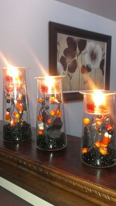 Halloween fun using Symmetry Trio! #PartyLite #candles Photo by Laura Zammett Crumb