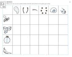 actividad para trabajar las matrices con escolares English Activities, How To Plan, Math Equations, School, Grinch, Mario, Halloween, Spring, Toddler Learning Activities