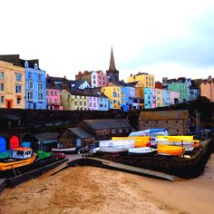 The bright Welsh Seaside town of Tenby, Pembrokeshire has a nostalgic holiday feel but with a stunning coastline and beautiful beaches. A lovely country break for couples and families alike Beautiful Places To Visit, Great Places, Places To Go, Beautiful Beaches, Wales Holiday, Pembrokeshire Wales, South Wales, Wales Uk, Excursion
