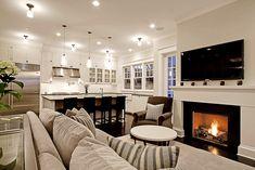 open kitchen & living area