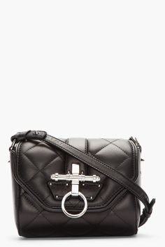 GIVENCHY Black Leather Quilted Obsedia shoulder bag