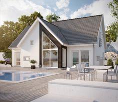Hudson - Storslaget hus i serien Ocean Living från Myresjöhus Cottage House Plans, Cottage Homes, Modern Exterior, Exterior Design, Beautiful Modern Homes, House Extensions, Modern House Plans, Pool Houses, Planer