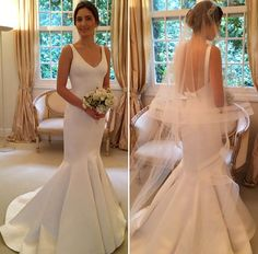 Vestido de noiva liso - Clássico minimalista ( Vestido: Wanda Borges ) #vestidodenoiva #noiva #weddingdress #bride