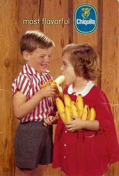 Here's an old print ad for Chiquita Bananas with a couple of adorable kids.